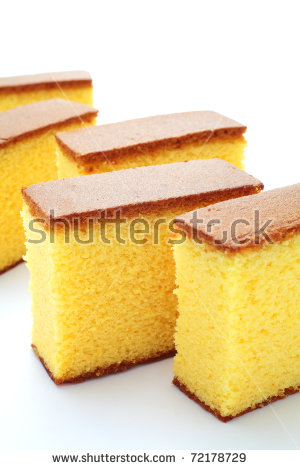 Japanese Sponge Cake Castella Stock Photo 72178714.