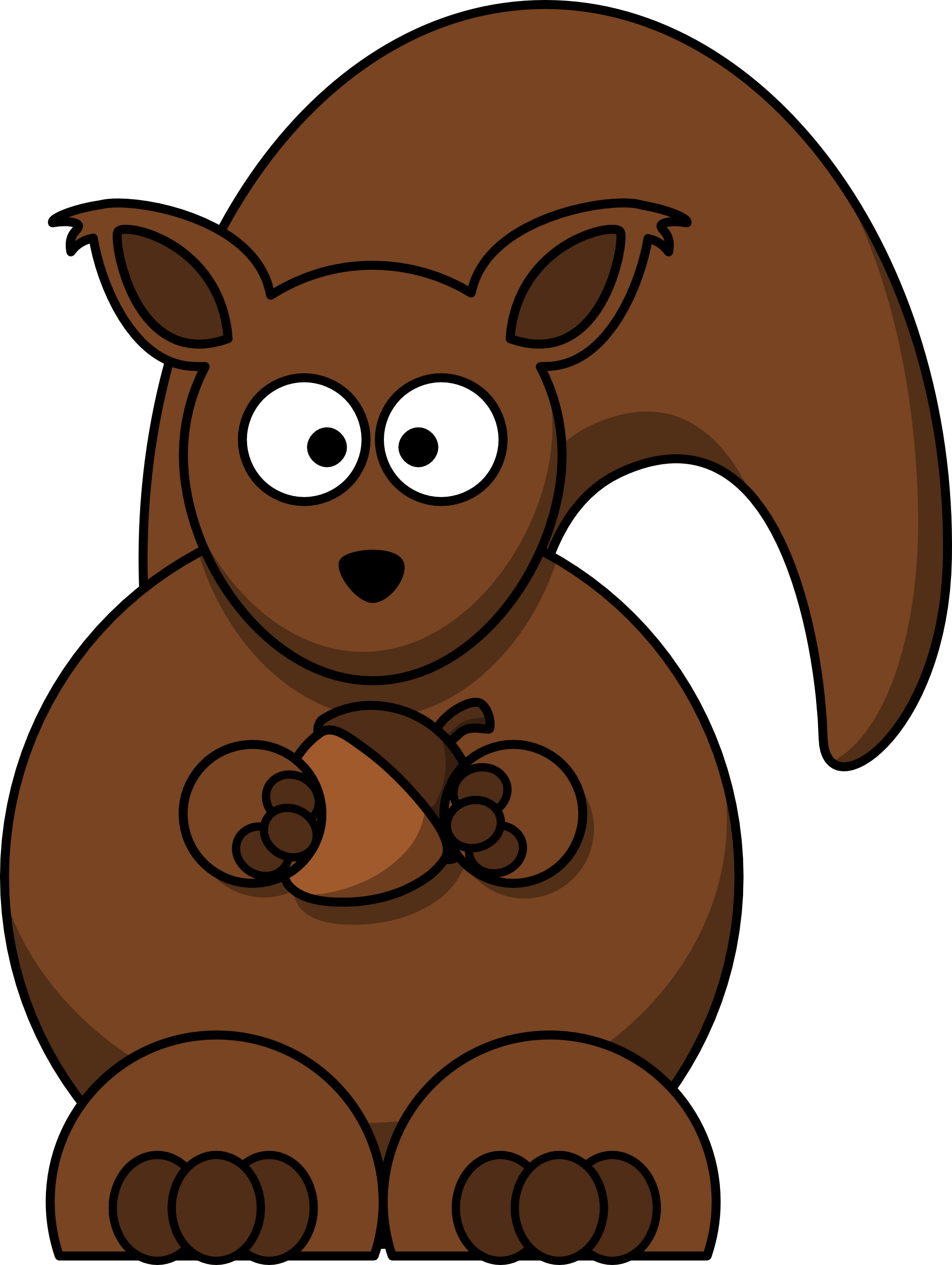 Animated Squirrel Clipart.