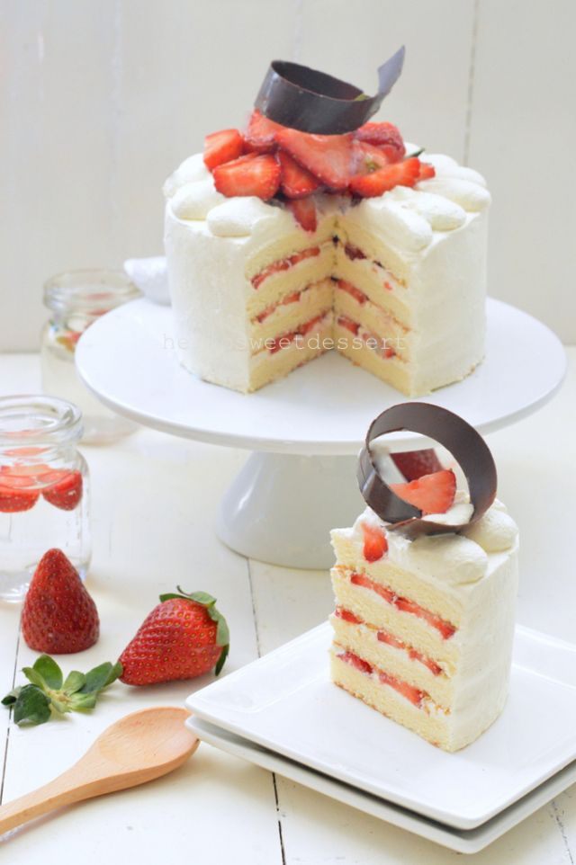 Strawberry Sponge Cake Recipe Japanese