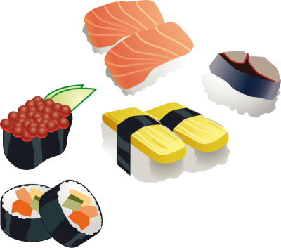 Sushi PNG.