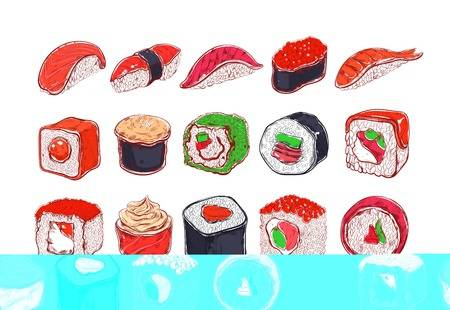 18,091 Japanese Sushi Stock Vector Illustration And Royalty Free.