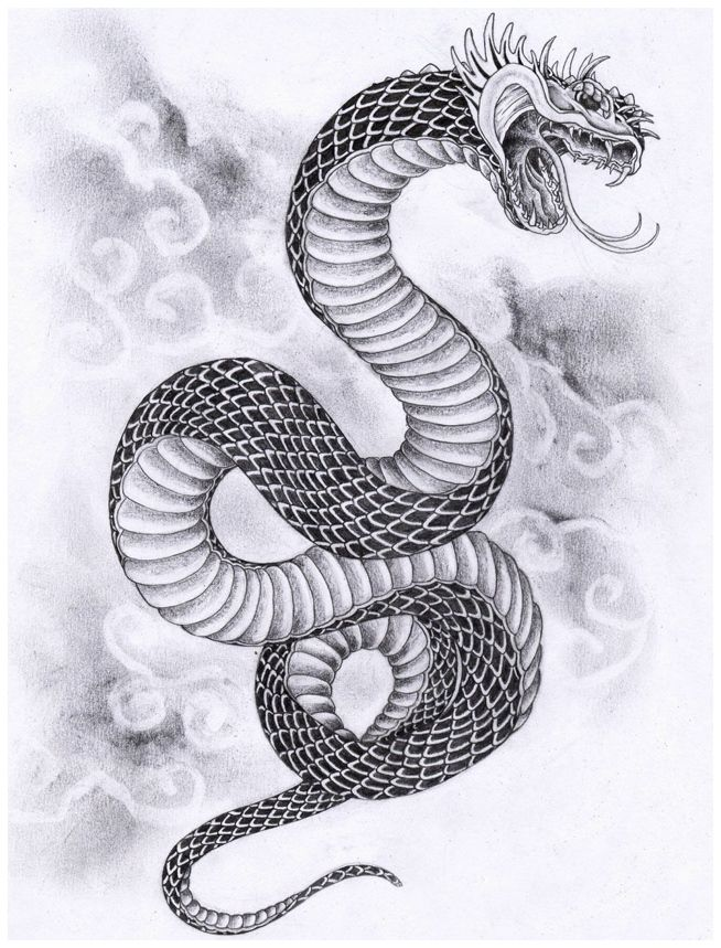 Japanese Tattoo Designs and Meanings : Japanese Snake Tattoo Designs.