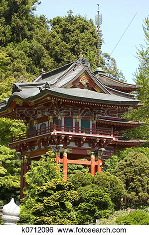 Stock Images of Japanese tea house k0712096.