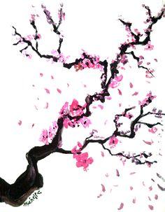 Realistic sakura blossom.