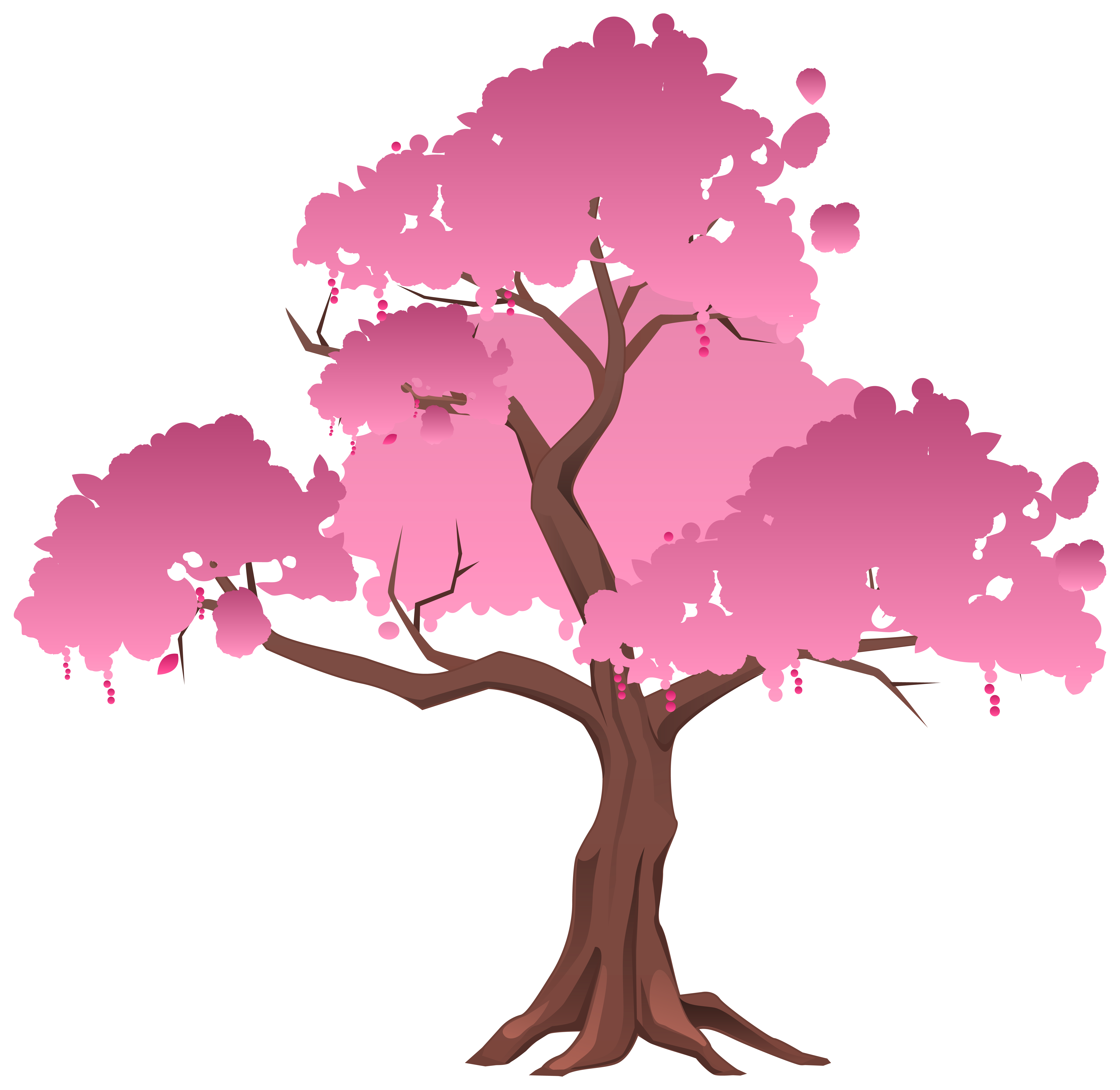 Pink Japanese Tree PNG Clipart Image.