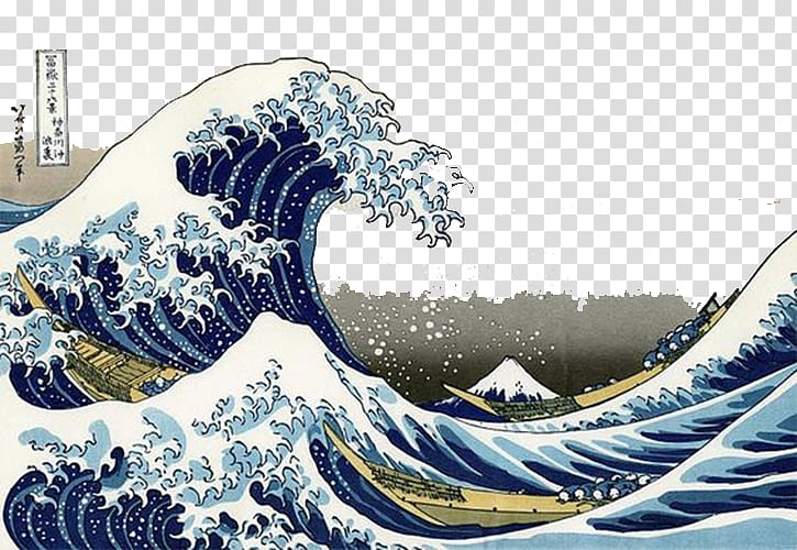 The Great Wave Off Kanagawa painting, The Great Wave off.