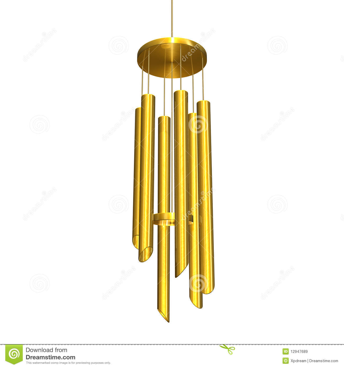 Wind Chime Stock Illustrations.