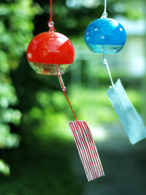Japanese wind chimes clipart #2