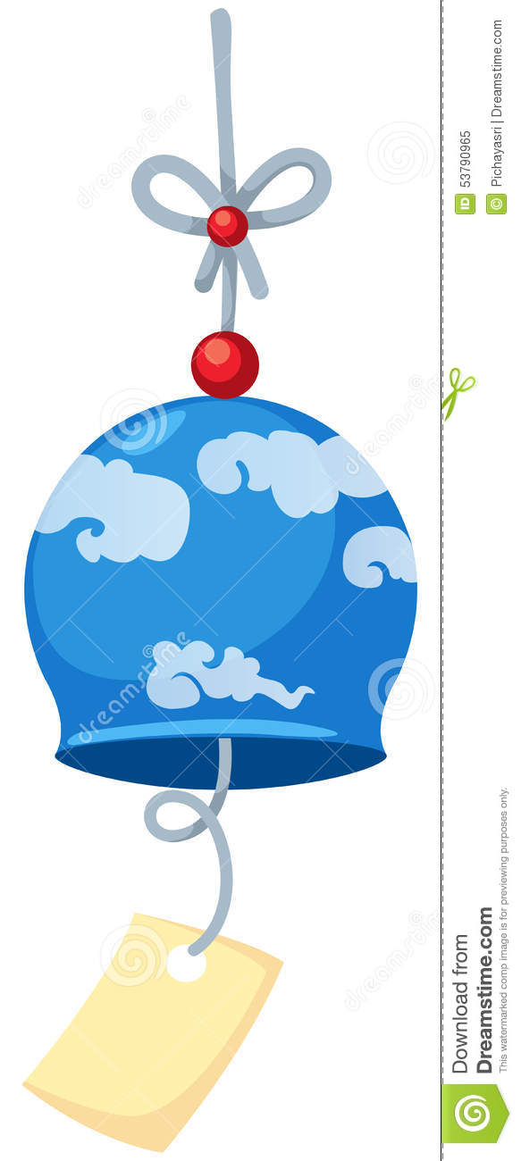 Japanese Wind Bell Stock Illustration.