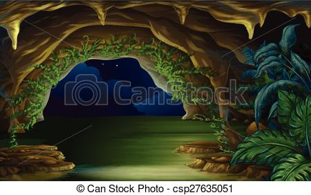 Clipart Vector of Cave.