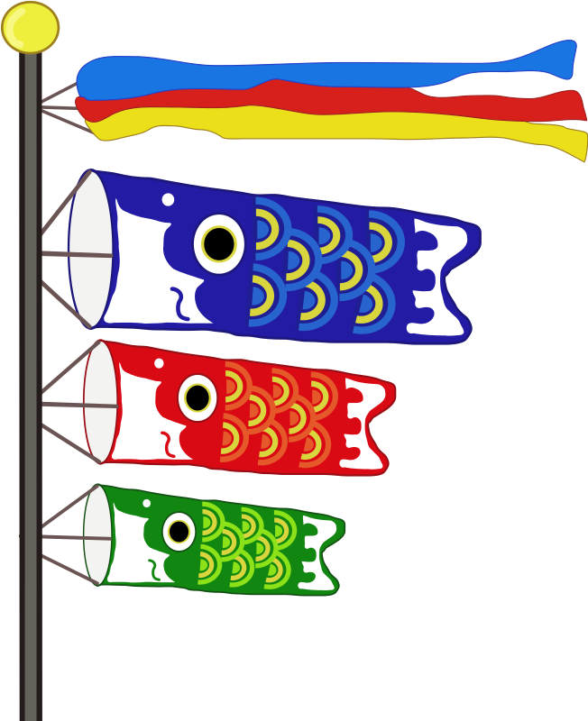 japanese boys day fish clipart - Clipground