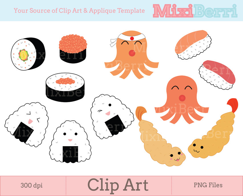 Cute Japanese Clipart.