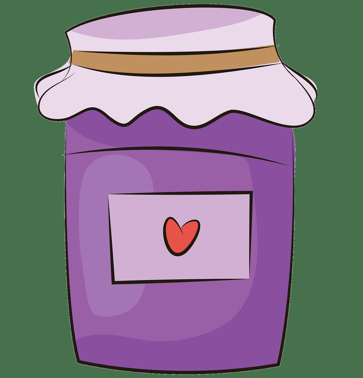 Jam jar clipart. Free download..