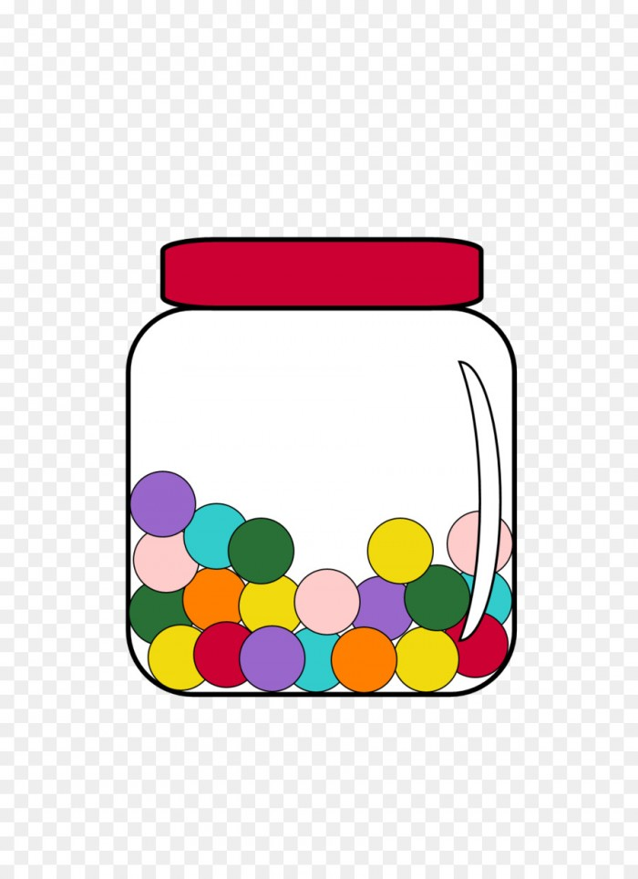 Jar Candy Clip Art Gum Counting Jar Png Vector, Clipart, PSD.