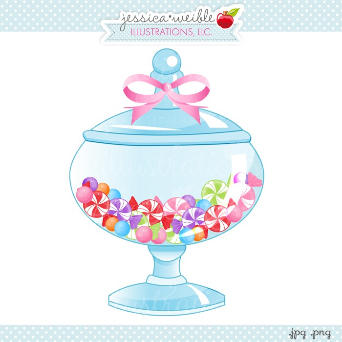 Jar of candy clipart.