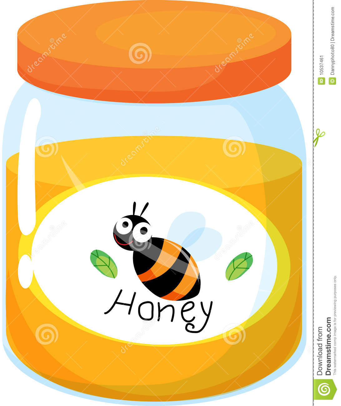 Honey Jar Clipart.