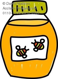 Jar of Honey Clipart Image.