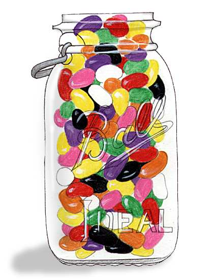 47 Jelly Beans free clipart.