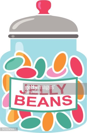 jelly bean jar Clipart Image.