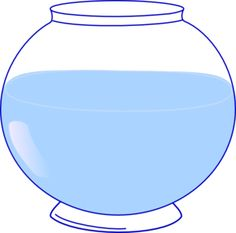 Jar of water clipart.