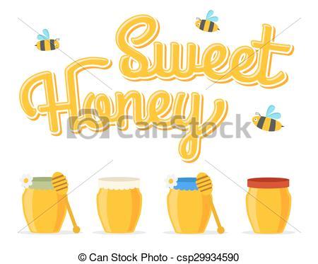 EPS Vectors of honey jars.
