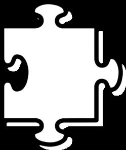 White Puzzel Piece Clip Art at Clker.com.