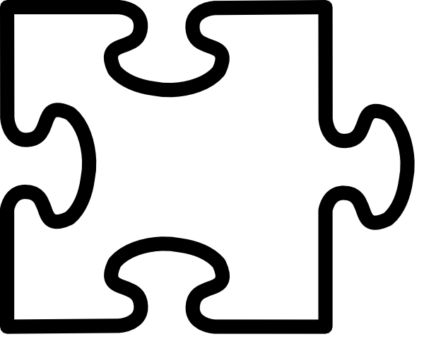 Jigsaw White Puzzel Clip Art at Clker.com.