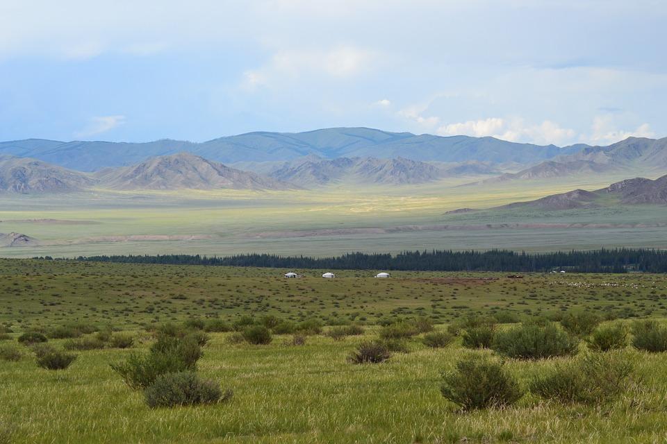 Free photo Mongolia Yurts Steppe Altai.