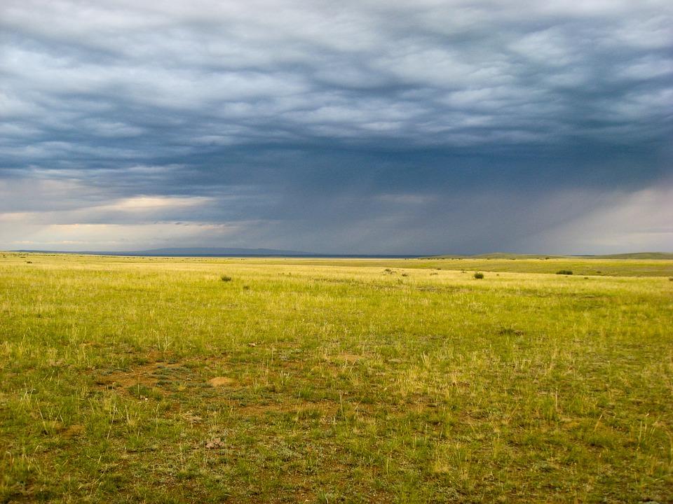 Free photo: Mongolia, Steppe, Rain, Clouds.