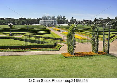 Stock Photo of Jardim Botanico Curitiba csp21185245.