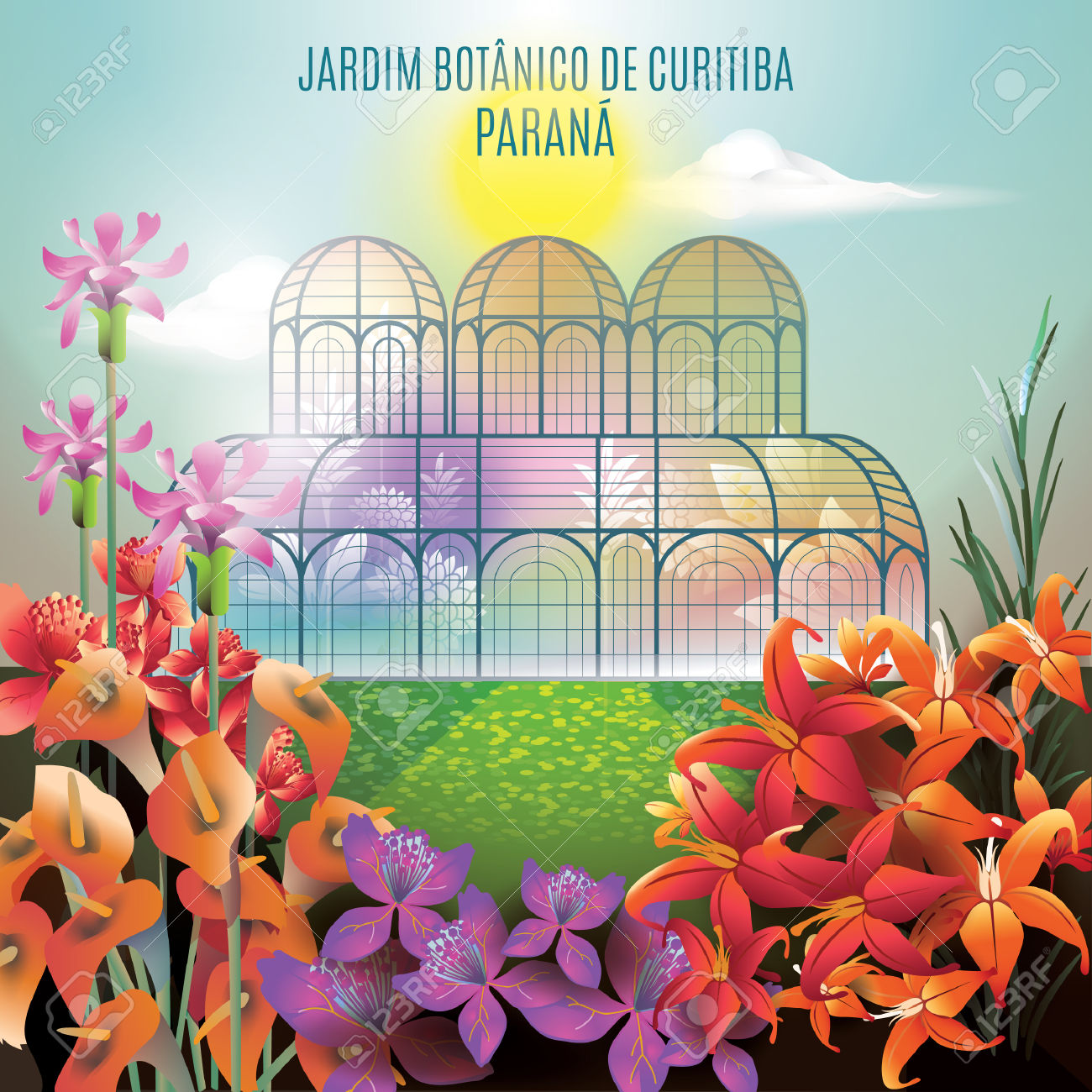 Jardim Botanico De Curitiba Parana Royalty Free Cliparts, Vectors.