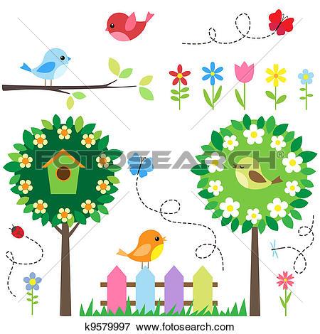 Clipart of birdhouses k8922372.