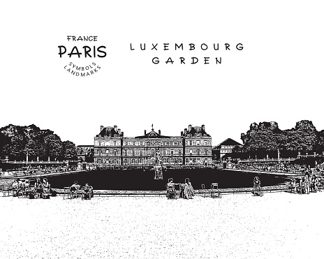 Le Jardin Du Luxembourg Clip Art, Vector Images & Illustrations.