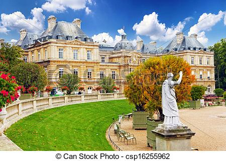Stock Image of Luxembourg Garden(Jardin du Luxembourg) in Paris.