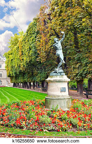 Stock Photography of Dancing Faun. Luxembourg Garden(Jardin du.