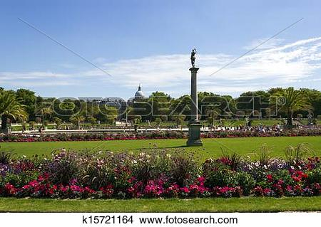 Stock Photo of park Jardin du Luxembourg, Paris, France k15721164.