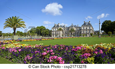 Picture of Luxembourg Palace in Jardin du Luxembourg in Paris.