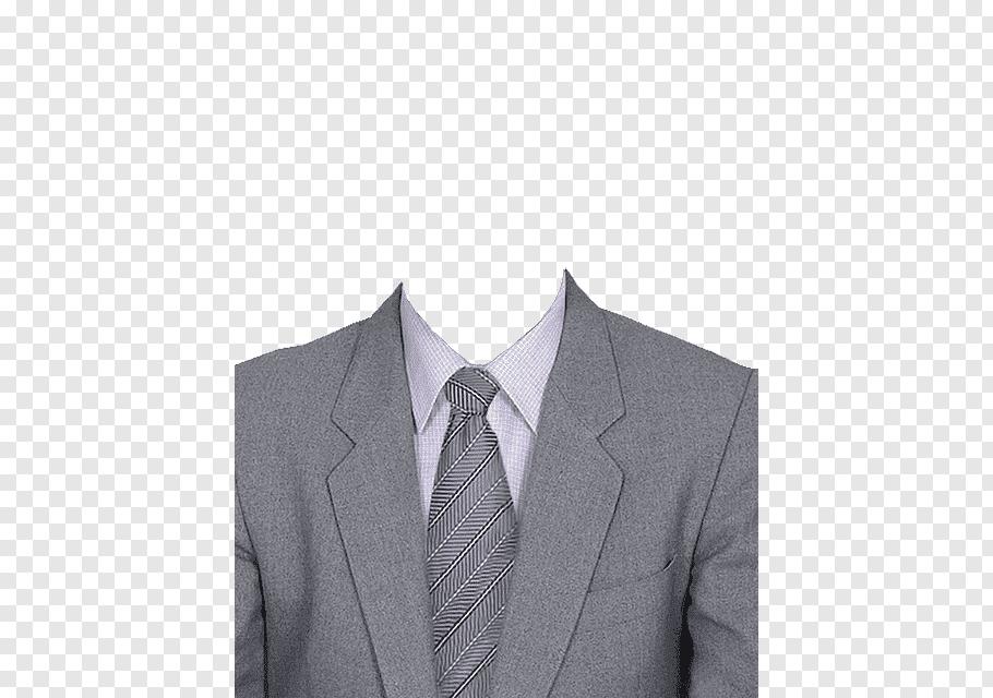 Gray notched lapel suit illustration, Suit Clothing Coat.
