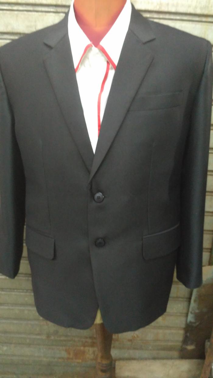 Jual jas formal jas kantor jas pria wool best quality hitam.