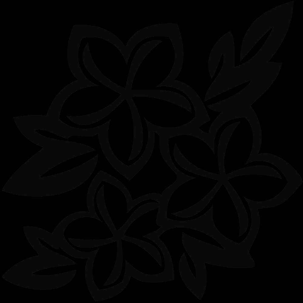 Jasmine PNG Black And White Transparent Jasmine Black And.