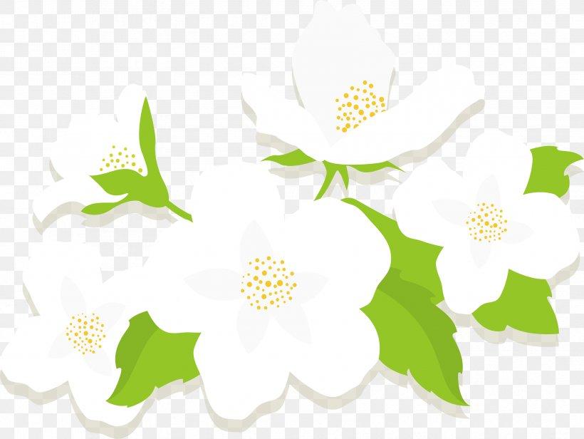 Jasmine Flower Euclidean Vector, PNG, 3356x2523px, Jasmine.