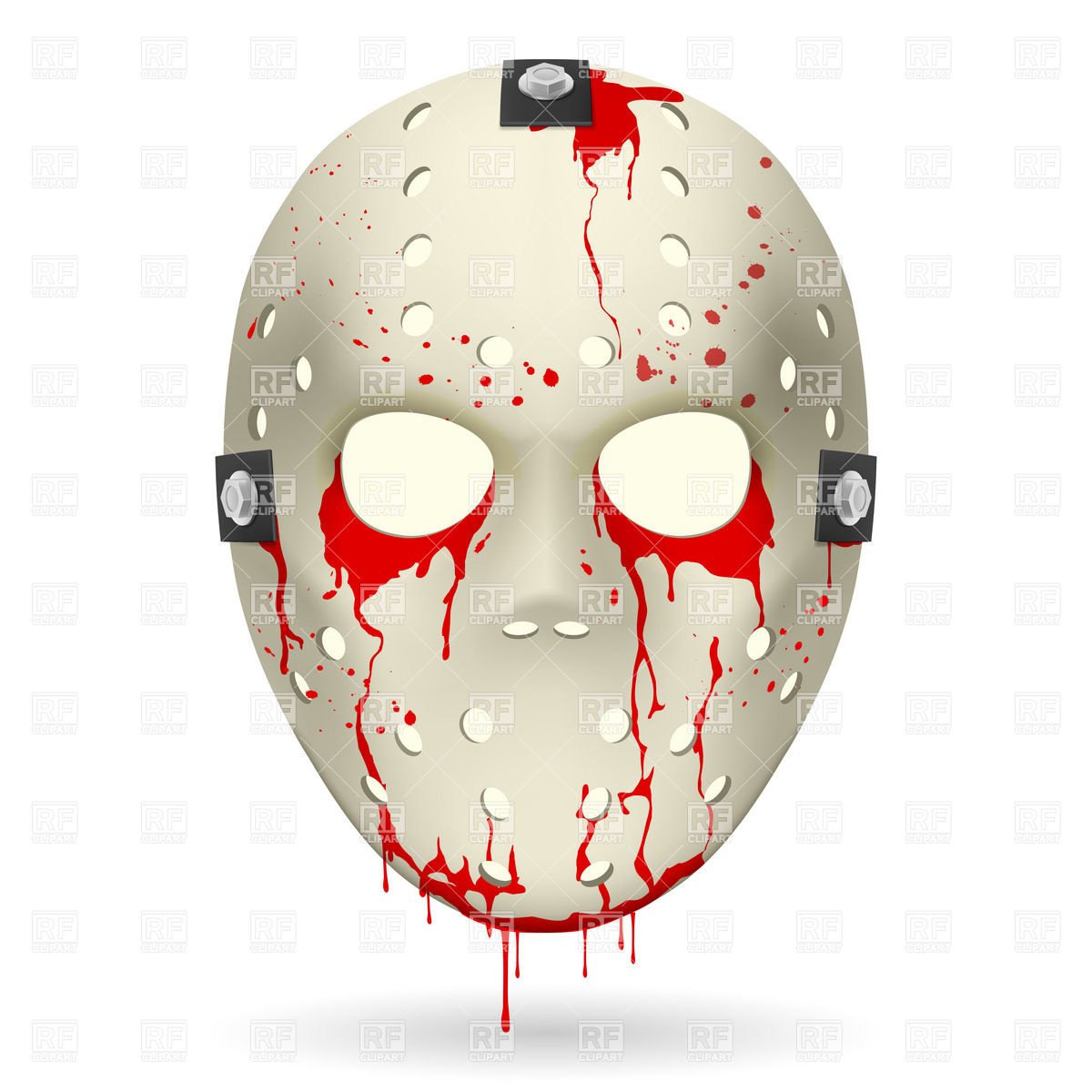 Bloody hockey mask Stock Vector Image.