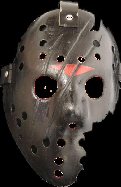Jason Black Damaged Mask (PNG).