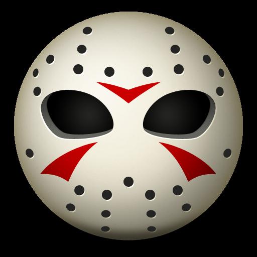 Jason Hockey Mask Icon, PNG ClipArt Image.