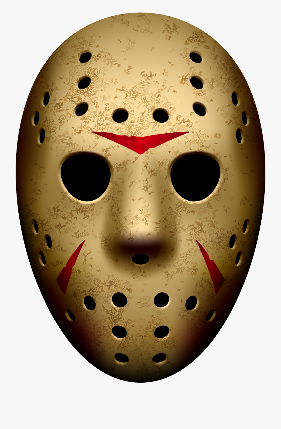 Jason Mask Friday The 13th Png Clip Art Image.