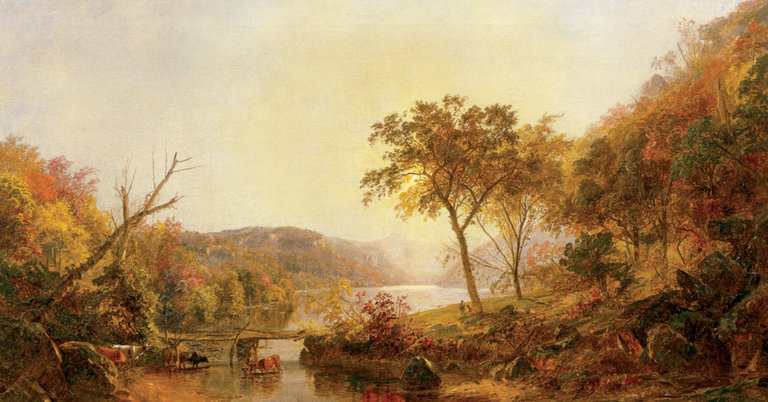 Jasper Cropsey Paintings on Display at His Hudson Valley Home.