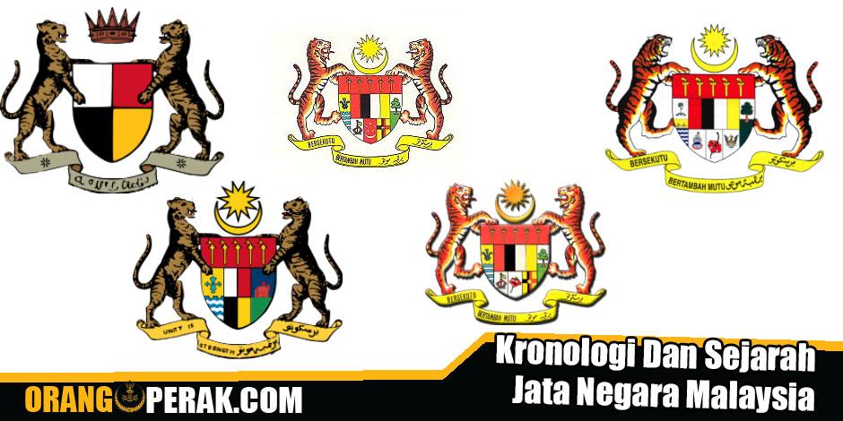 Kronologi Dan Sejarah Jata Negara Malaysia.