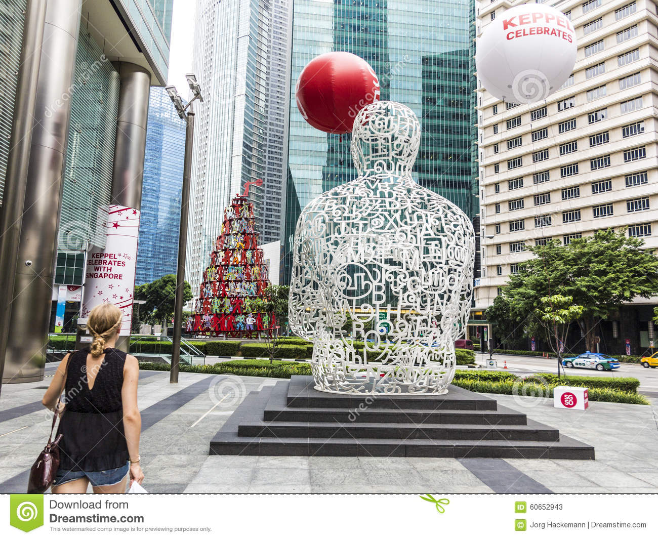 Sculpture Singapore Soul From Jaume Plensa In The Financial Cent.