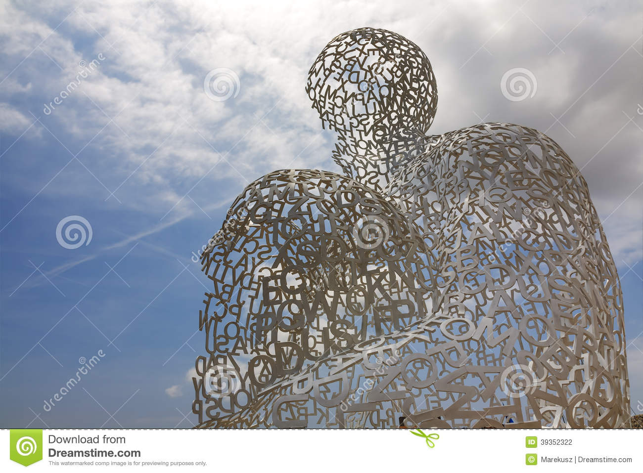 Sculpture At Antibes By Jaume Plensa Editorial Photography.