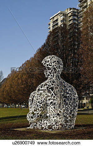 Stock Photograph of We, 2008, (Vancouver Biennale) sculpture by.